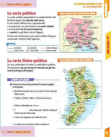 Cartina Fisica Della Calabria.Page 15 Sussidiario Delle Discipline 4 Geografia