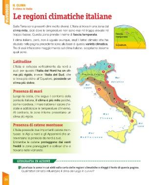 Italia Climatica Cartina.Page 26 Sussidiario Delle Discipline 4 Geografia