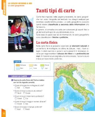 Cartina Fisica Italia Colline.Page 14 Sussidiario Delle Discipline 4 Geografia