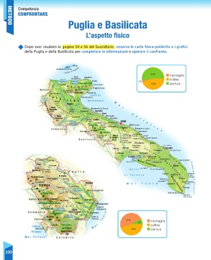 Mappa Puglia E Basilicata.Page 102 Sussidiario Delle Discipline 5 Geografia