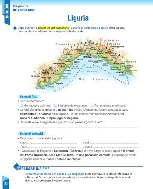 Regione Liguria Cartina Fisica.Page 84 Sussidiario Delle Discipline 5 Geografia