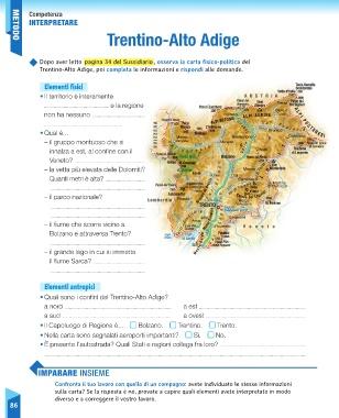 Trentino Alto Adige Cartina Fisica E Politica.Page 88 Sussidiario Delle Discipline 5 Geografia
