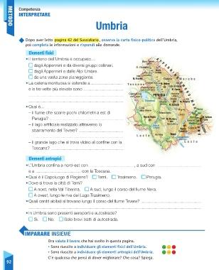 Umbria Cartina Geografica Fisica.Page 94 Sussidiario Delle Discipline 5 Geografia